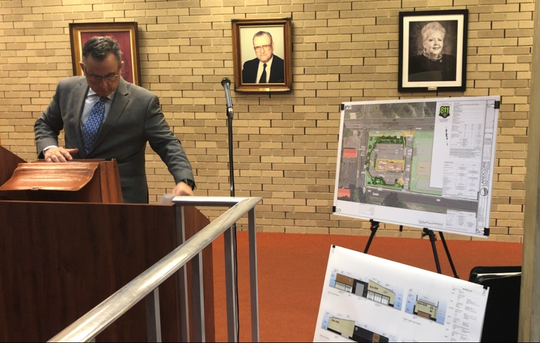 The Vineland Planning Board on Wednesday night unanimously approved the site plan for a Starbucks at the southeast corner of West Landis Avenue and South Orchard Road. Applicant attorney Damien Del Duca packs up after the vote.