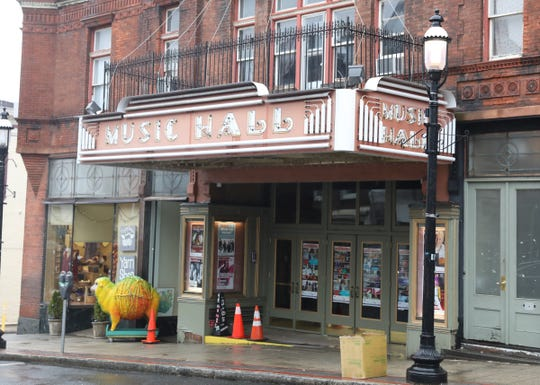 The front of the Tarrytown Music Hall on Friday, March 13, 2020, showed no signs that events planned for the weekend were canceled. Gov. Cuomo's ban on large gatherings of more than 500 could affect the calendar at the historic, 843-seat Music Hall.
