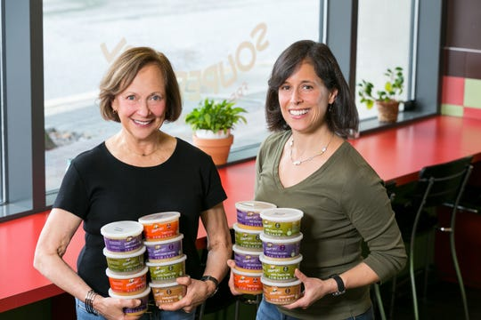 Sara Polon with her mom, Marilyn Polon. The mother/daughter duo are the owners of Washington, DC-based SouperGirl.