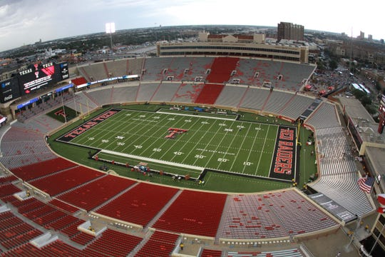 A view of Jones AT&T Stadium in Lubbock, Texas, which hosts home games for Texas Tech.