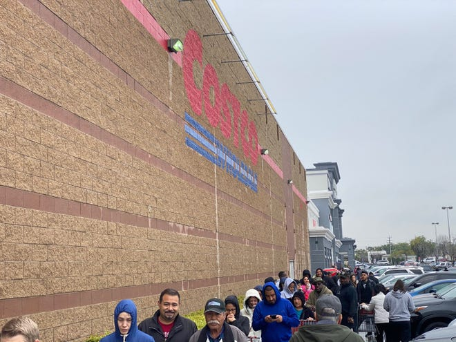 Costco experienced lines that stretched for blocks as shoppers stocked up in the midst of the coronavirus outbreak