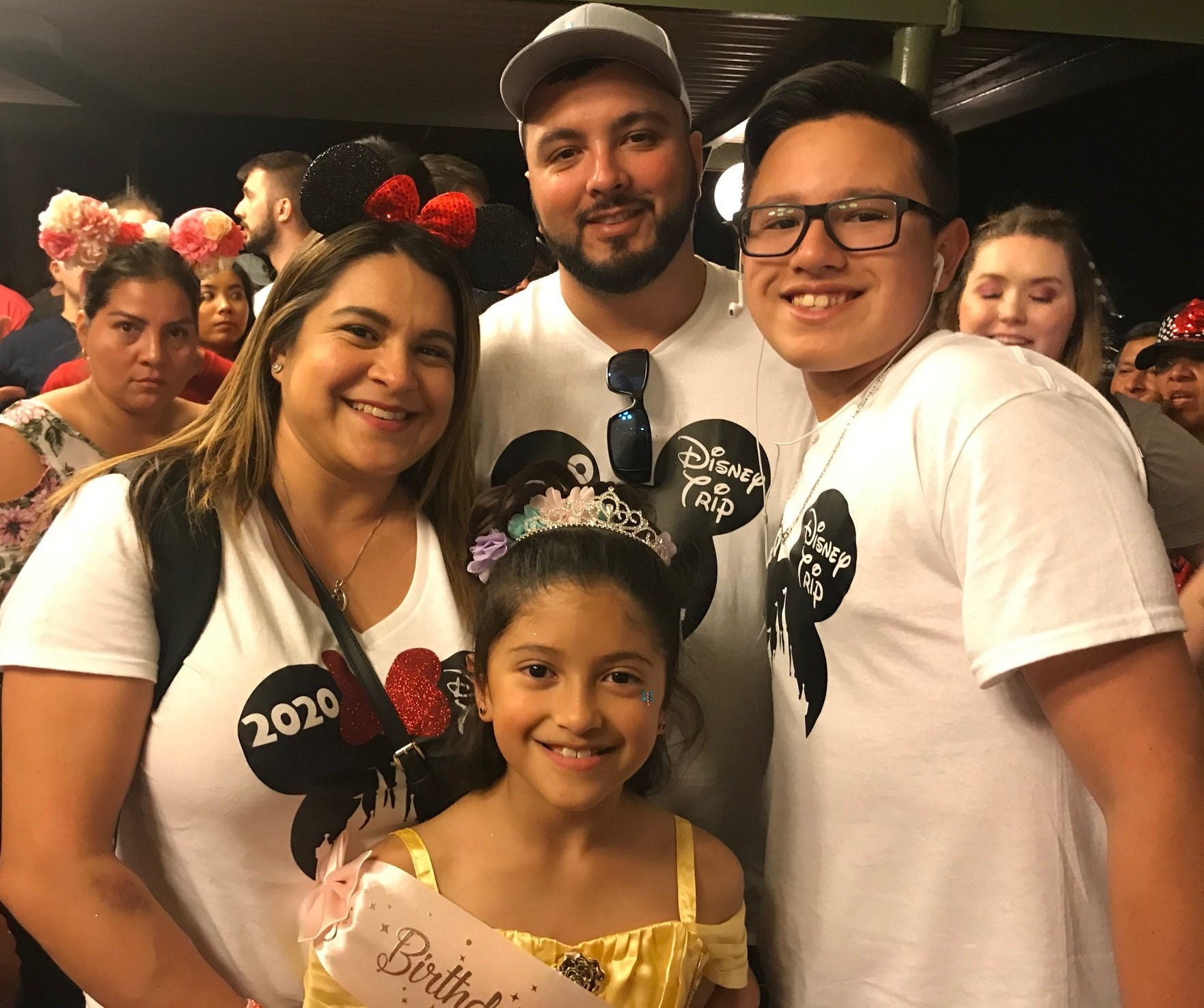AraceliandCarlos Rios of Texas visit Magic Kingdom March 13 with their children, Carlos Jr. and Isabella, who was celebrating turning 8. The family, Araceli said, took time to make sure the children avoided touching their faces and washed their hands often during their trip, planned before the spread of the coronavirus that's reached global pandemic stage.
