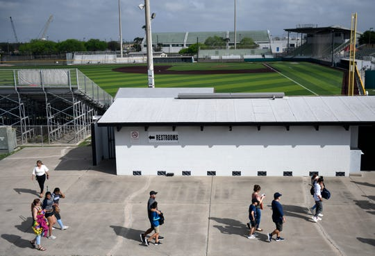 Miller faces Carroll in a softball game, Friday, March 13, 2020, at Cabaniss Softball Field. The game is one of the last UIL softball games.