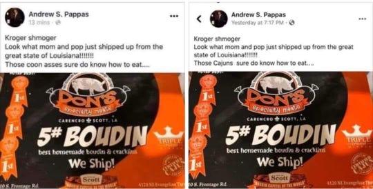 Andrew Pappas Facebook post