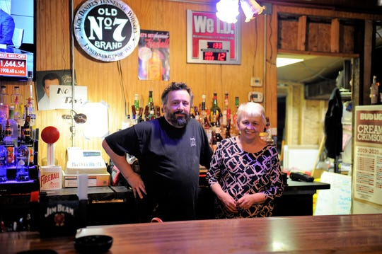 Andy and Linda Williams inside Bob's Lounge on Thursday, March 12, 2020.
