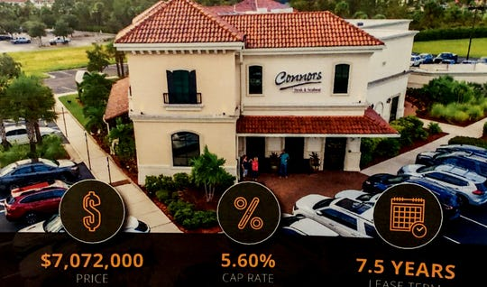 Connors Steak & Seafood at 10076 Gulf Center Drive, Fort Myers. A few of the listings Jim Shiebler, has for sale.  While the business isn't for sale, the land and the building and the lease is.