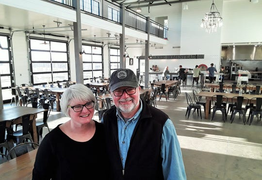 Built last year, this spacious new barn at Walker Homestead is used for wine tasting, plus weddings, classes, private dinners and many other events. Kristy and Bob Walker are University of Iowa faculty members who own and operate the educational farm.