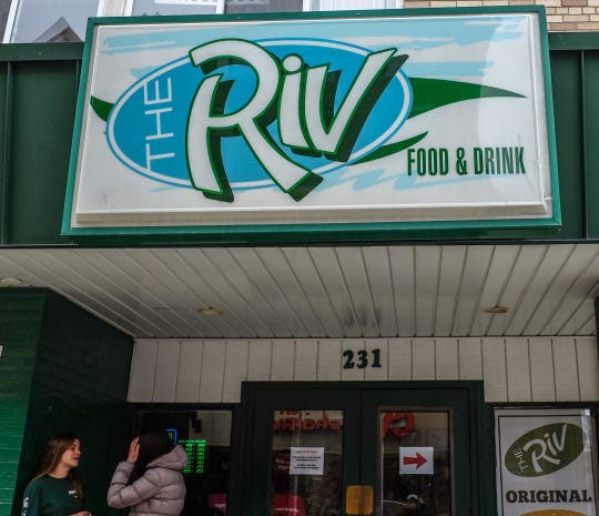 The exterior of The Riv, a bar in downtown East Lansing, pictured late Saturday afternoon, March 14, 2020.