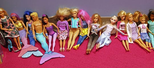 Barbie dolls are popular toys for the siblings of children at Children's Wisconsin to play with in the Playroom of Hope.