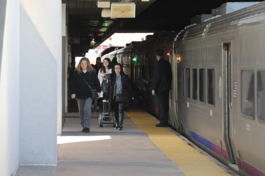 Commuters were sparse at the Frank R. Lautenberg Rail Station in Secaucus, NJ on March 14, 2020 at 2pm. Traffic at the station was similar to other public areas that werenÕt as busy as usual in northern NJ .