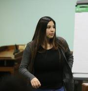 Delilah Diaz-Baca testifies Tuesday March 10, 2020, during Julio Gutierrez-Barrera's murder trial.