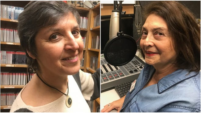 In March of 2000, Intermezzo host Leora Zeitlin (left) and Fiesta host Emily Guerra (right) were offered radio shows on KRWG-FM, now KRWG Public Media. They have been on the air continuously for 20 years.
