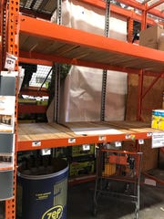 Empty shelves at Home Depot in Mesa.