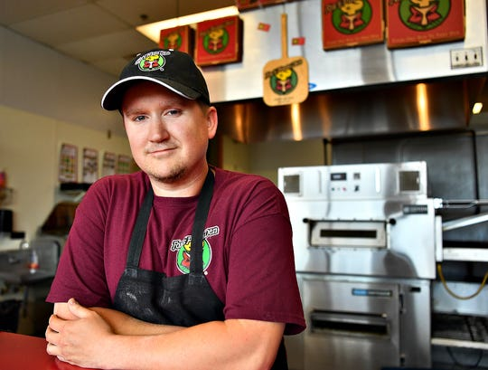 Co-owner Tim Johnson at Fox's Pizza in Dover Township, Saturday, March 14, 2020. Dawn J. Sagert photo