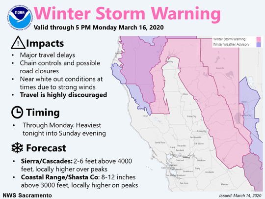 The National Weather Service has issued a winter storm warning.