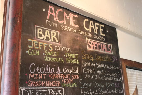 Cecilia Ritter-James and Jeff James have sold ACME Cafe, their 7-year-old neighborhood restaurant in South Salem. On March 13, 2020, the specials menu included a cocktail tribute to each of them created by their staff.