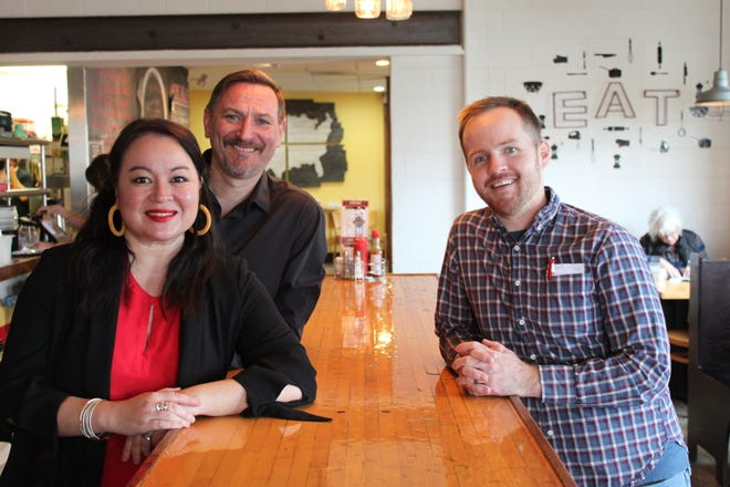 Cecilia Ritter-James and Jeff James (left) have sold ACME Cafe, their 7-year-old neighborhood restaurant in South Salem, to Jesse Voegtle (right). March 14 and 15 are the founders' final days at the restaurant.