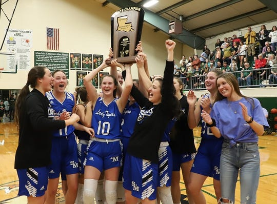 The St. Mary's Lady Tigers recently won the LHSAA Division IV state title.