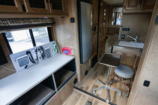This recreational vehicle, donated by Al Miller, is being retrofitted for the AIDS Project of the Ozarks.