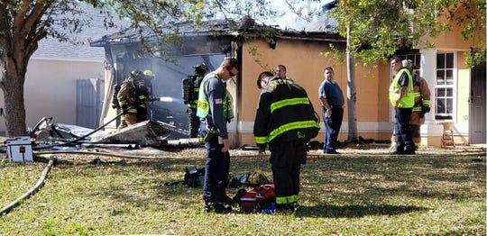 A fire destroyed a home in Port St. Lucie on Friday
