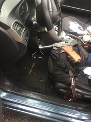 Firearm seized from a vehicle in Oxnard.