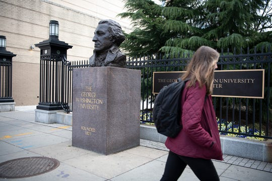 George Washington University's classes went online after spring break in March and have not resumed in person.