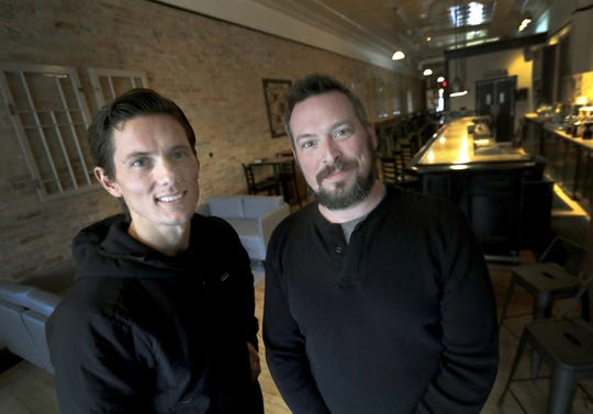 Matias Whittingslow and Josh Sicker plan to open their relocated Author's Kitchen + Bar on Tuesday in downtown Appleton.
