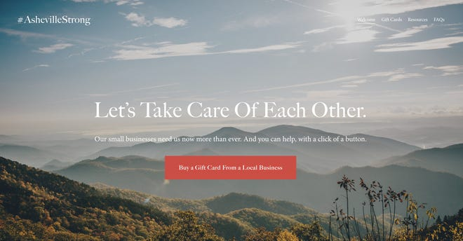The Asheville Strong website launched March 14, 2020.