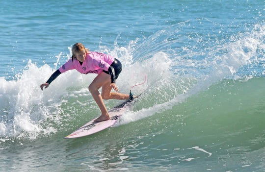 Caitlin Simmers won the Roxy Women's Junior Pro at the 8th Annual Ron Jon Beach 'N Boards Fest at Shepard Park in Cocoa Beach.