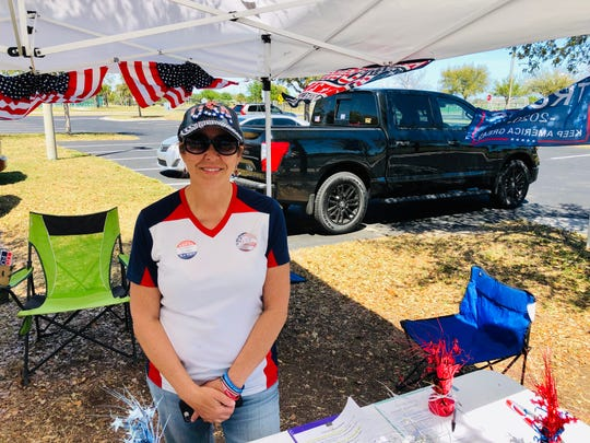 Brevard County Republican precinct captain Joyce Loyd was working the Republican tent Saturday outside the Viera Regional Community Center, as she has throughout the 13-day in-person early-voting period.