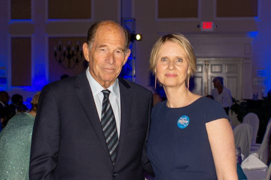 "The Brevard County Democratic Party's ""Big Blue Bash"" fundraiser March 7 in Cape Canaveral featured Biden campaign surrogate Evan Dobelle and Sanders campaign surrogate Cynthia Nixon."