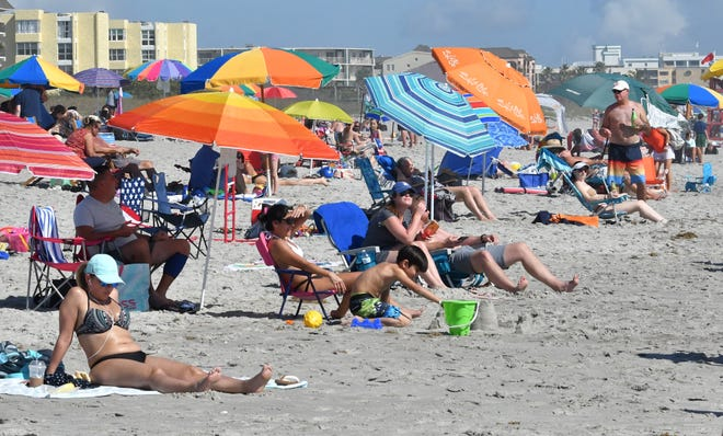 Crowds gathered Sunday at Shepard Park in Cocoa Beach for the 2020 Ron Jon Beach N Boards Fest.