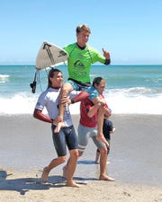 Jabe Swierkocki won the Junior Men's Pro Sunday at the 8th Annual Ron Jon Beach 'N Boards Fest at Shepard Park in Cocoa Beach.