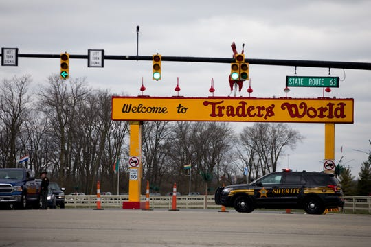Law enforcement responded Sunday afternoon to a report of a shooter at Traders World Market in Monroe.