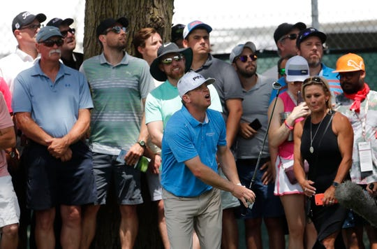 Nate Lashley won the first Rocket Mortgage Classic in 2019.