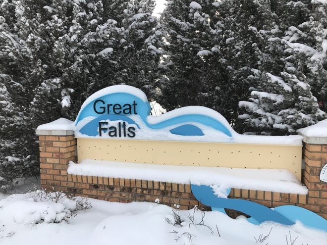Great Falls and northcentral Montana received several inches of snow in a two-day storm that ended Saturday afternoon.