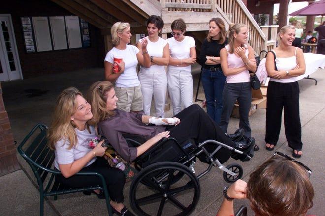 Making love with her hot paralyzed legs Iu Cheerleader Luke Recker S Ex Girlfriend Paralyzed From Neck Down