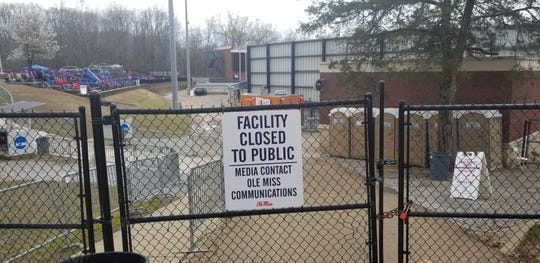 Swayze Field, the baseball stadium at Ole Miss, is closed to the public amid coronavirus fears.