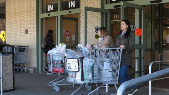 Shoppers stock up at Shop Rite in Rockaway Township. March 15, 2020.