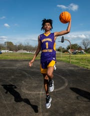 All-Metro athlete Evangel Christian Tyree Curry poses for a portrait in Montgomery, Ala., on Thursday, March 12, 2020.