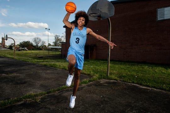 All-Metro athlete Calhoun's J.D. Davison poses for a portrait in Montgomery, Ala., on Thursday, March 12, 2020.