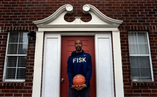 Fisk basketball coach and former NBA All-Star Kenny Anderson at his home in Nashville, one year after he had a massive stroke that nearly killed him.