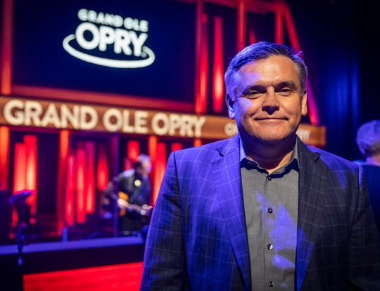 Dan Rogers, Vice President and Executive Producer of the Grand Ole Opry, is photographed on the Opry stage Saturday, March 14, 2020.
