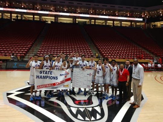 The Las Cruces boys basketball team won the Class 5A state championship on Saturday.