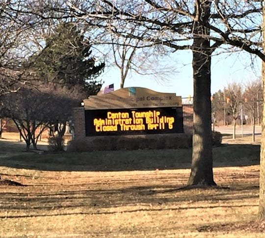 The sign outside Canton Township's administration building says it all.