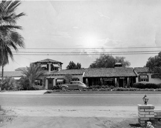 Reid Clinic and Hospital at 644 N. Palm Canyon Drive in Palm Springs in 1932.