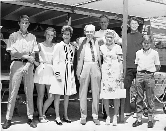 Dr. and Mrs. Reid surrounded by their family in 1969. He created the first hospital in Palm Springs.
