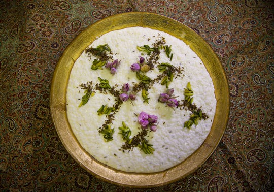 Shir berenj, rice pudding Persian style, is made by cater Vida Shahbazi, at Arizona Persian Culture Center in Scottsdale on March 11, 2020.