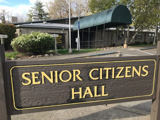 Redding's Senior Citizens Hall is closed starting Monday, March 16, 2020, over fears of the coronavirus pandemic.