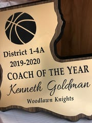 Woodlawn's Kenny Goldman is the 2020 District 1-4A Coach of the Year.